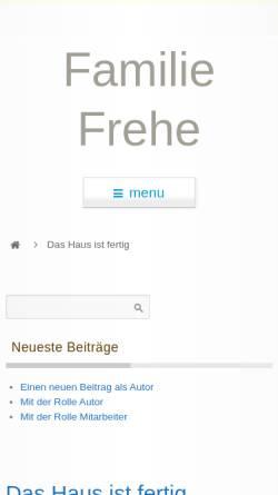 Vorschau der mobilen Webseite familie-frehe.de, Frehe, Familie