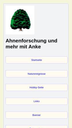 Vorschau der mobilen Webseite familie-frehse.de, Frehse, Anke