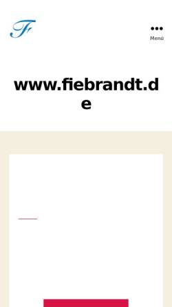 Vorschau der mobilen Webseite www.fiebrandt.de, Friebrandt, Alexander