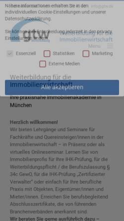 Vorschau der mobilen Webseite gtw.de, gtw Weiterbildung GmbH