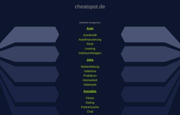 Vorschau von www.cheatspot.de, Cheatspot.de - Suchmaschine für Spielecheats