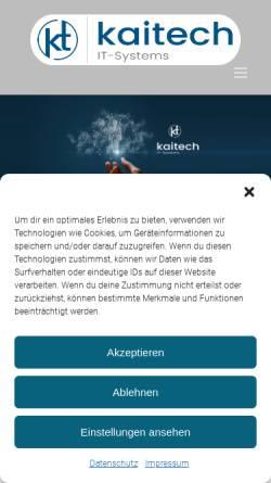 Vorschau der mobilen Webseite www.kaitech.de, KaiTech IT-Systems GmbH