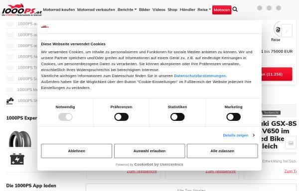 Vorschau von www.1000ps.at, 1000PS.at