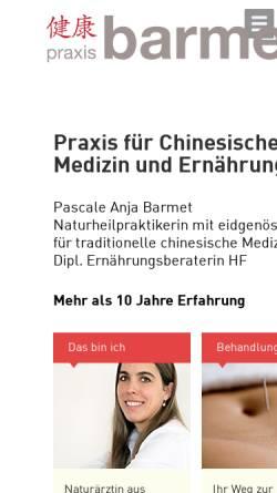Vorschau der mobilen Webseite www.praxis-barmet.ch, Praxis für Chinesische Medizin und Ernährung