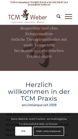 Vorschau der mobilen Webseite www.tcm-weber.ch, TCM Weber