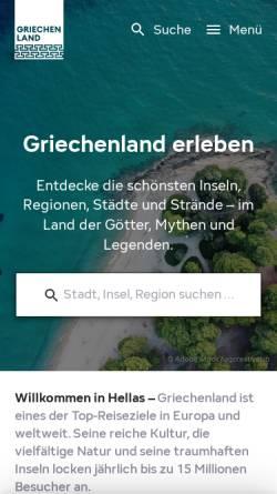 Vorschau der mobilen Webseite www.griechenland-infos.de, Griechenland-Informationen