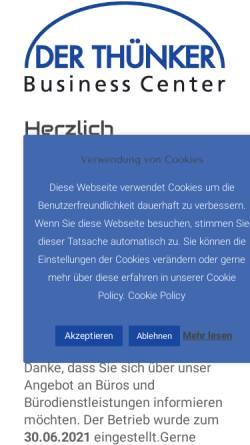 Vorschau der mobilen Webseite buero-bonn.de, Der Thünker Büro und Sekretariatsservice