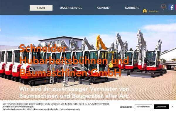 Vorschau von www.baumaschinen-schneider.de, Hubarbeitsbühnen und Baumaschinen Schneider GmbH
