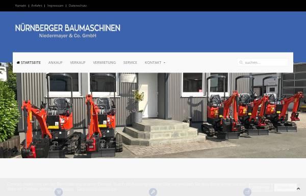 Vorschau von www.nuernberger-baumaschinen.de, Nürnberger Baumaschinen Niedermayer & Co. GmbH