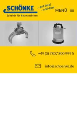 Vorschau der mobilen Webseite www.schoenke.de, Schönke