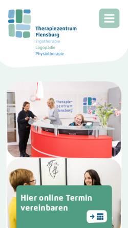 Vorschau der mobilen Webseite www.therapiezentrum-flensburg.de, Therapiezentrum Flensburg