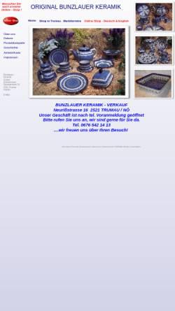 Vorschau der mobilen Webseite www.bunzlauer-keramik.at, Keramik Günter Zimmermann