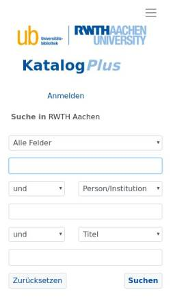Vorschau der mobilen Webseite sylvester.bth.rwth-aachen.de, Medienspezifische Sprachperformanz