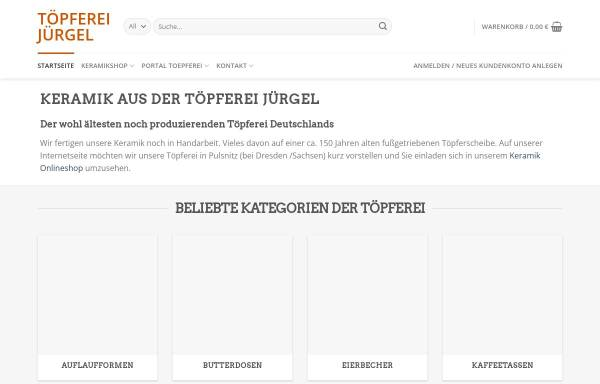 Vorschau von toepferei-juergel.de, Töpferei Jürgel