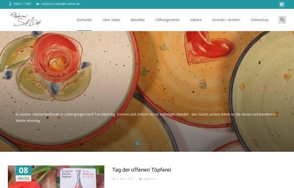 Vorschau von toepferei-saida.de, Töpferei Saida