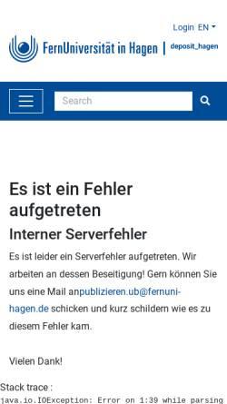 Vorschau der mobilen Webseite deposit.fernuni-hagen.de, Konzeption eines digitalen Videoeditiersystems