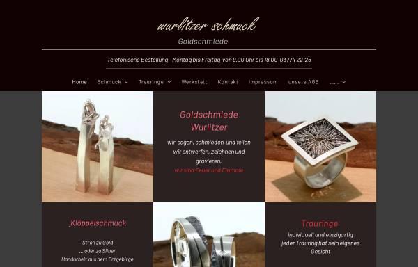 Vorschau von www.goldschmiede-wurlitzer.de, Goldschmiede Wurlitzer