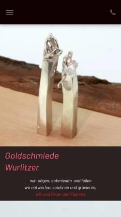 Vorschau der mobilen Webseite www.goldschmiede-wurlitzer.de, Goldschmiede Wurlitzer