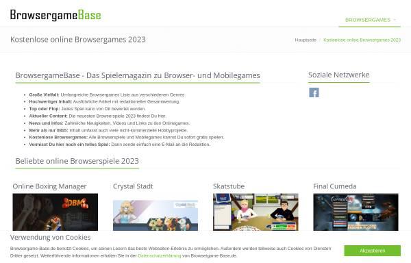 Vorschau von www.browsergame-base.de, Browsergame Base