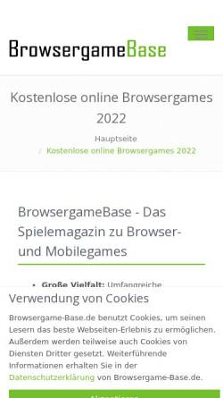 Vorschau der mobilen Webseite www.browsergame-base.de, Browsergame Base