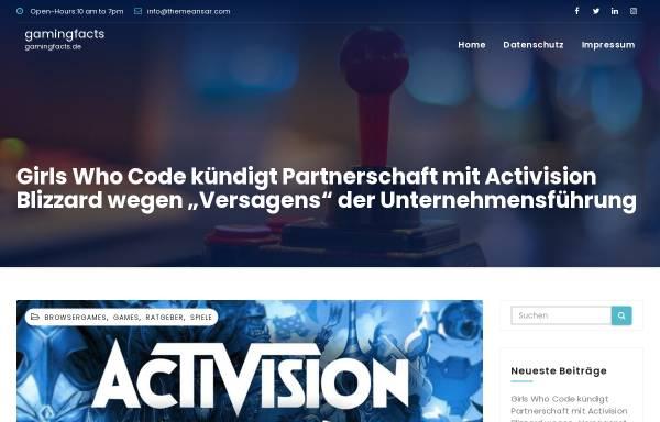 Vorschau von www.gamingfacts.de, GamingFacts.de