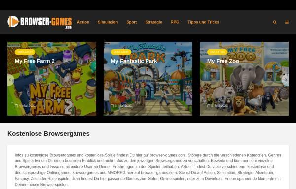 Vorschau von www.kostenlose-browserspiele.com, Kostenlose Browserspiele