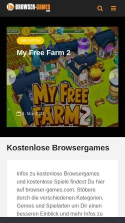 Vorschau der mobilen Webseite www.kostenlose-browserspiele.com, Kostenlose Browserspiele