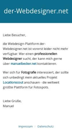 Vorschau der mobilen Webseite www.der-webdesigner.net, der-Webdesigner.net