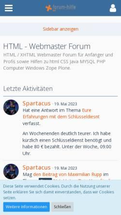 Vorschau der mobilen Webseite www.forum-hilfe.de, Forum-Hilfe.de