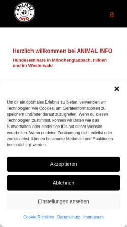 Vorschau der mobilen Webseite www.animal-info.de, Animal Info