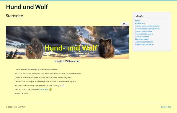 Vorschau von www.hund-und-wolf.de, Hund und Wolf