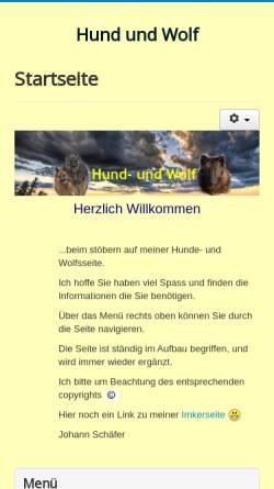 Vorschau der mobilen Webseite www.hund-und-wolf.de, Hund und Wolf