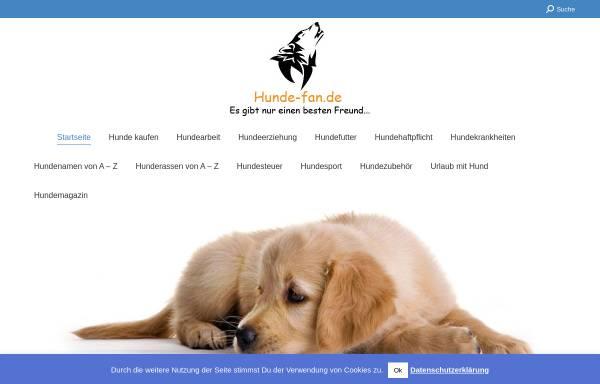Vorschau von www.hunde-fan.de, Hunde Fan