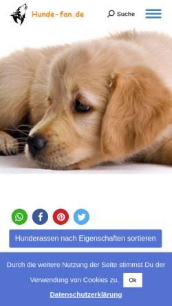 Vorschau der mobilen Webseite www.hunde-fan.de, Hunde Fan