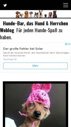 Vorschau der mobilen Webseite www.hunde-bar.de, Hunde-Bar