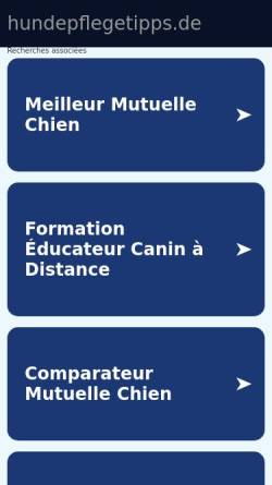 Vorschau der mobilen Webseite www.hundepflegetipps.de, Hundepflegetipps