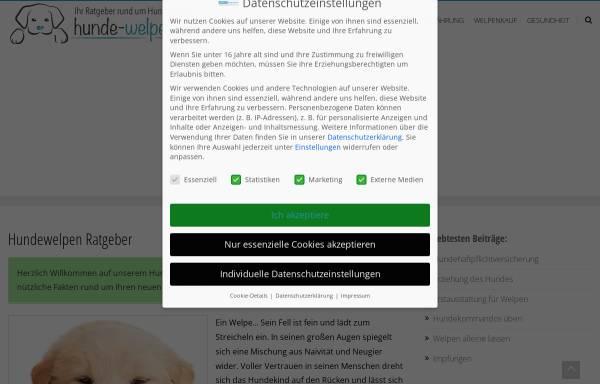 Vorschau von www.hunde-welpen.de, Hundewelpen Ratgeber