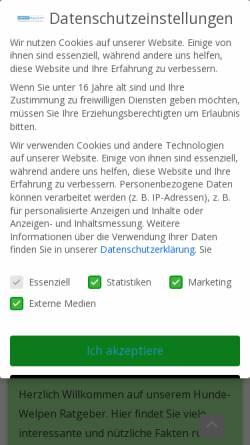 Vorschau der mobilen Webseite www.hunde-welpen.de, Hundewelpen Ratgeber