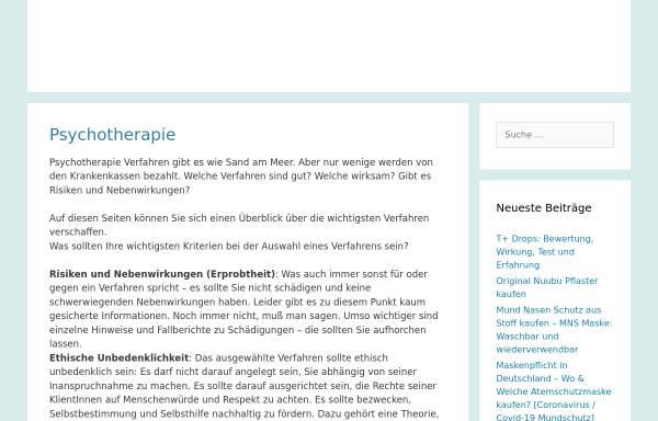 Vorschau von www.psychotherapie-netzwerk.de, Netzwerk Psychotherapie und Alternativen