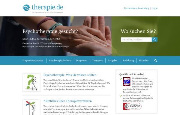 Vorschau von www.therapie.de, Therapie.de