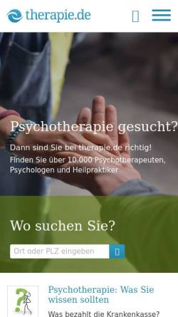 Vorschau der mobilen Webseite www.therapie.de, Therapie.de