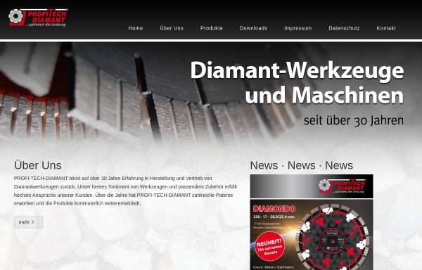 Vorschau von www.profitech.de, Profi-Tech-Diamant Werkzeuge GmbH