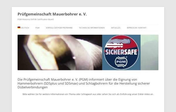 Vorschau von www.pgm-online.org, Prüfgemeinschaft Mauerbohrer e. V.