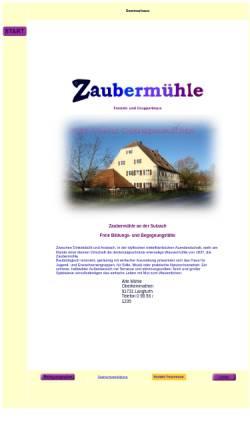 Vorschau der mobilen Webseite www.zaubermuehle.de, Seminarhaus Zaubermühle