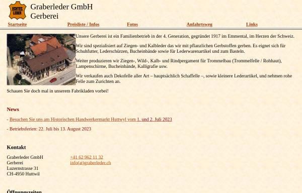 Vorschau von www.graberleder.ch, Graberleder GmbH
