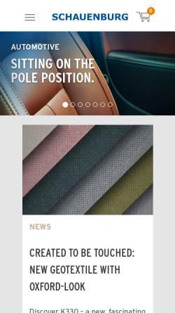 Vorschau der mobilen Webseite www.schauenburg-leder.de, Schauenburg GmbH