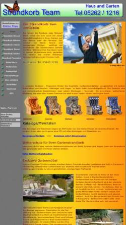 Vorschau der mobilen Webseite www.strandkorb-team.de, Schröder, Angelika - Strandkorb-Team
