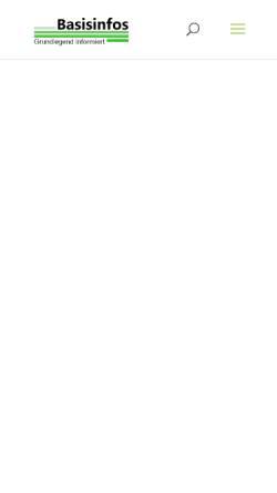 Vorschau der mobilen Webseite www.strandkorb.basisinfos.de, Wilkens, Sven - Strandkorb Basisinfos