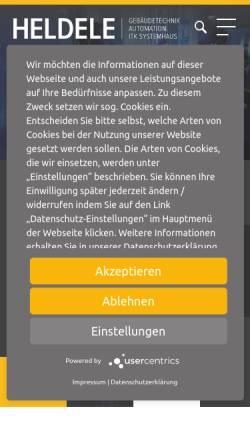 Vorschau der mobilen Webseite www.heldele.de, Heldele GmbH