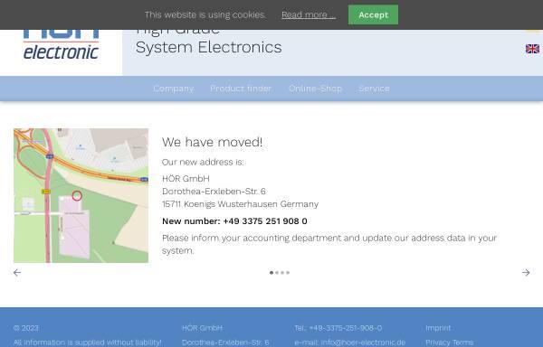 Vorschau von www.hoer-electronic.de, Hör GmbH & Co. KG